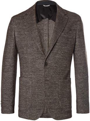 Canali Brown Slim-Fit Unstructured Herringbone Wool-Blend Blazer