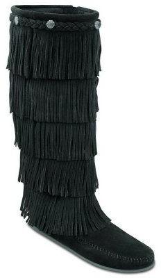 Minnetonka Women's Five-Layer Fringe Boots