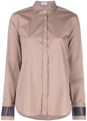 Brunello Cucinelli contrast cuff shirt