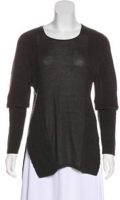 Helmut Lang Rib Knit Long Sleeve Sweater