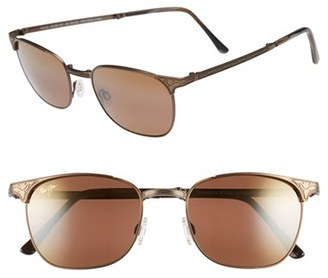 Men's Maui Jim 'Stillwater' 52Mm Polarized Sunglasses - Antique Gold/hcl Bronze $329 thestylecure.com