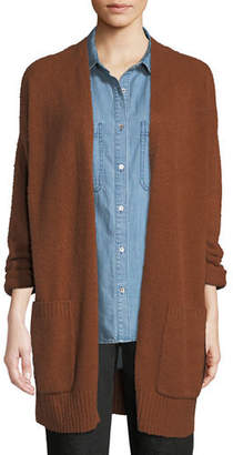 Eileen Fisher Cotton Fluff Two-Pocket Cardigan, Plus Size