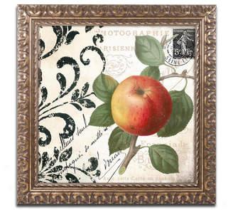 Trademark Global Color Bakery 'Les Fruits Jardin Iv' Ornate Framed Art
