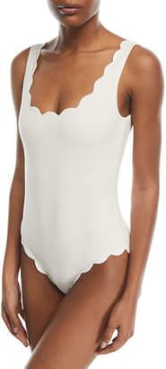 Marysia Swim Palm Springs Scalloped One-Piece Swimsuit