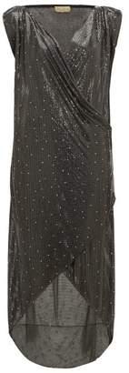Gianni Versace William Vintage 1983 Swarovski Crystal Oroton Gown - Womens - Black