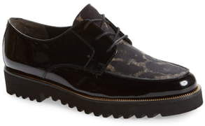 Paul Green Bilbao Leopard Print Platform Oxford