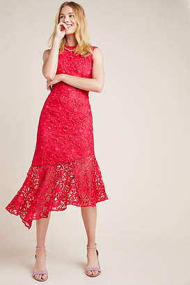 Shoshanna Botanique Lace Midi Dress