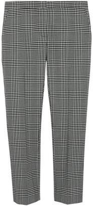 Burberry Straight Fit Prince of Wales Check Wool Trousers