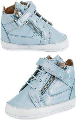 Giuseppe Zanotti Kids' Unisex Metallic Leather High-Top Sneakers, Infant