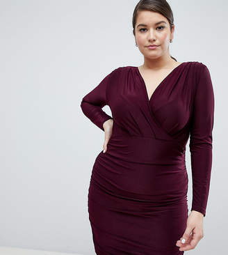 AX Paris Plus Plus slinky wrap dress