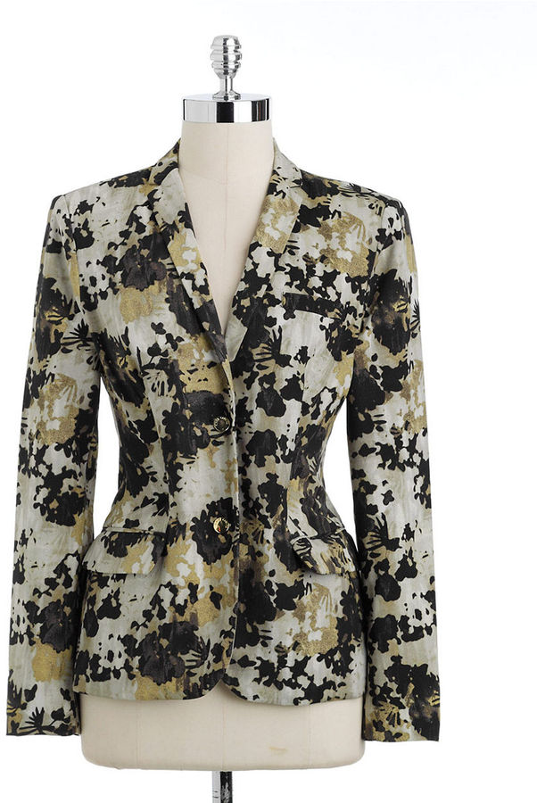 Vince Camuto Camouflage Two-Button Blazer