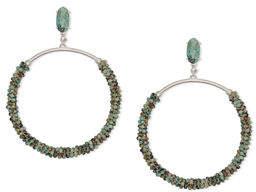 Kendra Scott Russel Hoop Drop Earrings