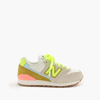 Kids' New Balance® for crewcuts 996 sneakers in champagne-lime $65 thestylecure.com