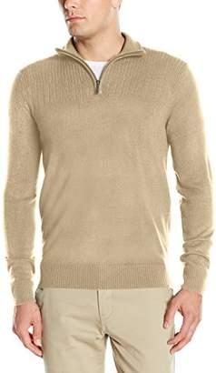 Geoffrey Beene Men's Quarter Zip Sweater