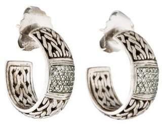 John Hardy Diamond Hoop Earrings