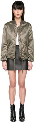 Mackage TREVA Water-repellent satin aviator bomber jacket