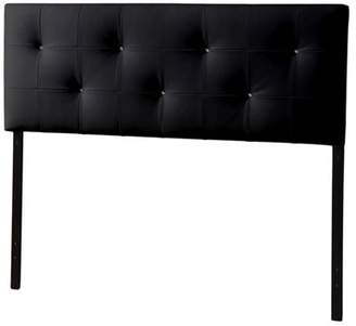 Baxton Studio Dalini Modern and Contemporary King Faux Leather Headboard with Faux Crystal Buttons, Multiple Colors
