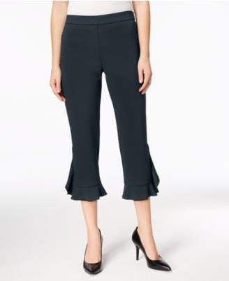 Alfani Ruffle-Hem Pants, Created for Macy's