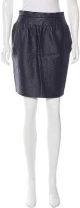 Balenciaga Ruched Pencil Skirt