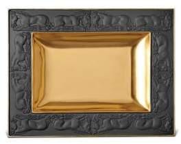 L'OBJET Horse-Patterned Porcelain/24k Gold Plate