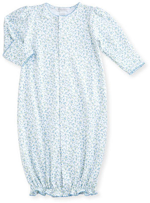Kissy Kissy Spring Meadow Convertible Pima Sleep Gown, Blue/White, Size Newborn-Small $42 thestylecure.com