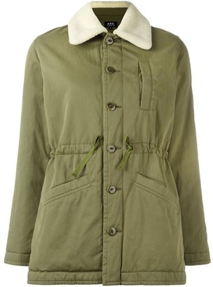 A.P.C. military style coat $515 thestylecure.com