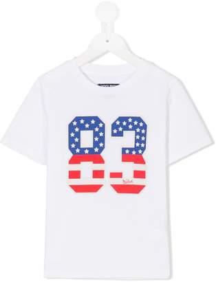 Woolrich Kids number print T-shirt