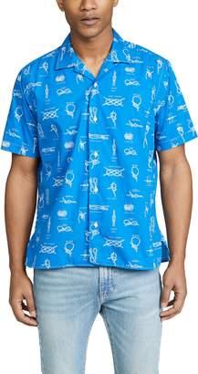 Gitman Brothers Camp Collar Button Down Knot Shirt
