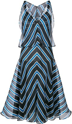 Fendi striped flared dress