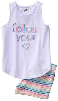 Crazy 8 Follow Your Heart Shortie 2-Piece Pajama Set