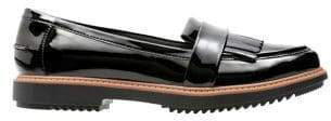 Clarks Raisie Theresa Patent Leather Kiltie Loafers