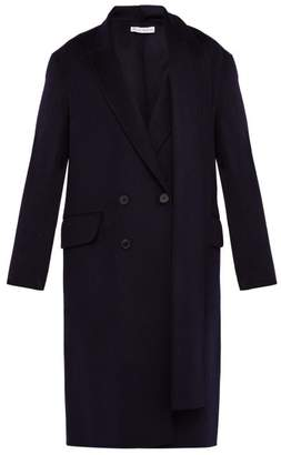 J.W.Anderson Double Breasted Brushed Wool Scarf Coat - Mens - Navy