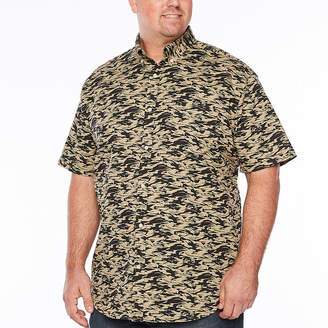 Co THE FOUNDRY SUPPLY The Foundry Big & Tall Supply Short Sleeve Floral Button-Front Shirt-Big and Tall