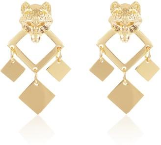 Alexa K Gold Nightwolf Earring