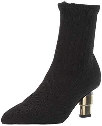 Jaggar Women's Pointed Closed Toe Heeled Sock Boot Ankle