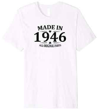 Vintage 1946 Funny 72th Birthday Gift T-shirt Best Emoji Tee
