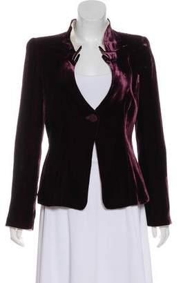 Giorgio Armani Velvet Structured Jacket