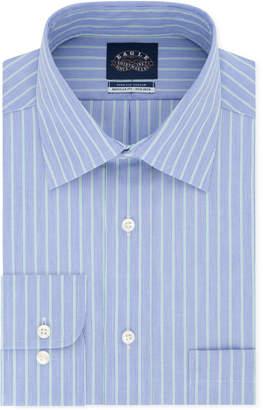Eagle Men Classic/Regular Fit Non-Iron Flex Collar Blue Stripe Dress Shirt
