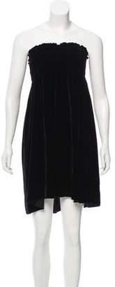 Calypso Strapless Velvet Dress