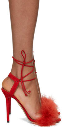 Charlotte Olympia Red Suede Salsa Sandals