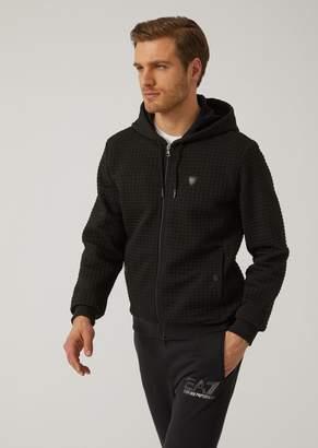 Emporio Armani Ea7 Quilted Interlock Sweatshirt With Logo