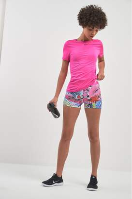 "Nike Womens Pro Hyper Femme Floral 3"" Short - Pink"