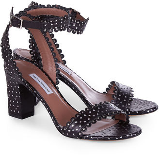 Tabitha Simmons Black Perforated Leather Leticia Sandals