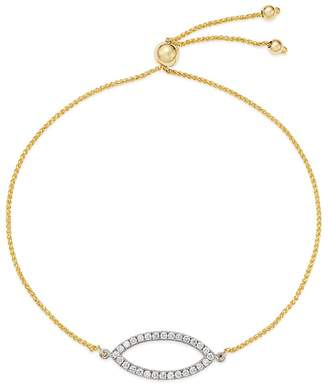Bloomingdale's Diamond Marquis Bolo Bracelet in 14K White & Yellow Gold, 0.25 ct. t.w. - 100% Exclusive