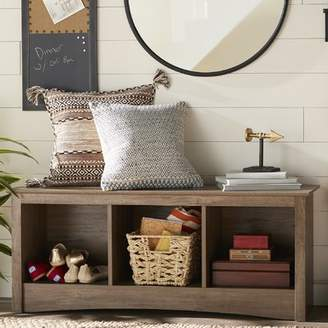 Latitude Run Penelope Wood Storage Bench