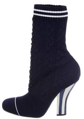 Fendi 2017 Knit Sock Ankle Boots