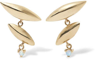 Wwake - Formation 14-karat Gold Opal Earrings