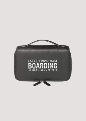 Emporio Armani Boarding Capsule Collection Toiletry Case With Zip
