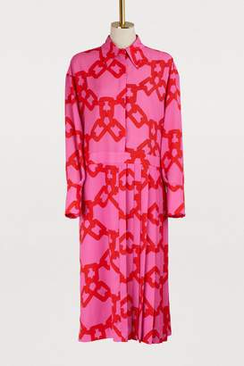 MSGM Long chain print dress