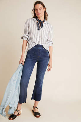 Spanx Mid-Rise Crop Flare Jeans